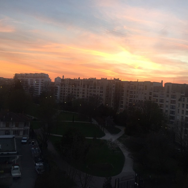 #coucherdesoleil #sunrise #vanves #sanseffet