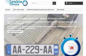 Site web de vente en ligne de carte grise