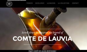 création du site web des Armagnacs Comte de Lauvia