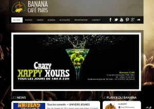 Réalisation du site internet du Banana Café Paris