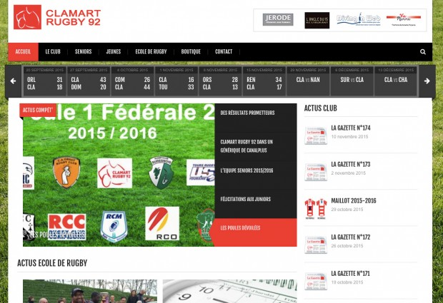 Site web Clamart Rugby 92