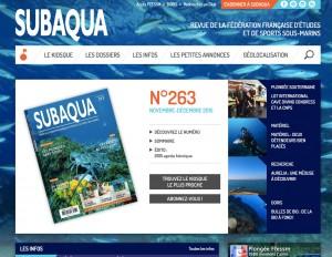 Accompagnement dans le développement du site web de la revue de la FFESSM Subaqua