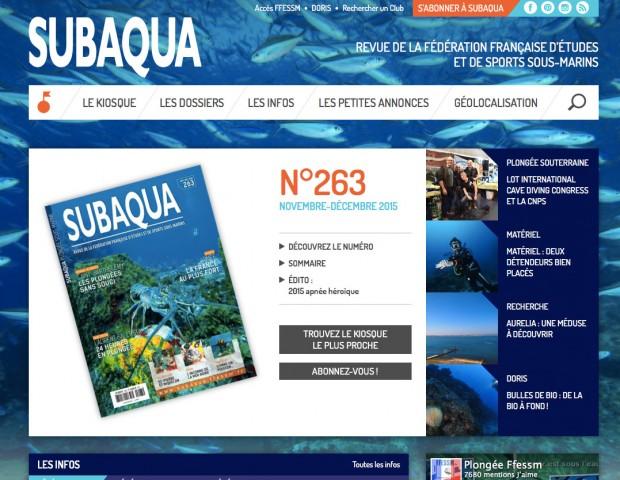 Site de la revue Subaqua
