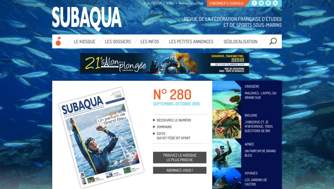 Diving in web - Gestion de projet web - Subaqua FFESSM