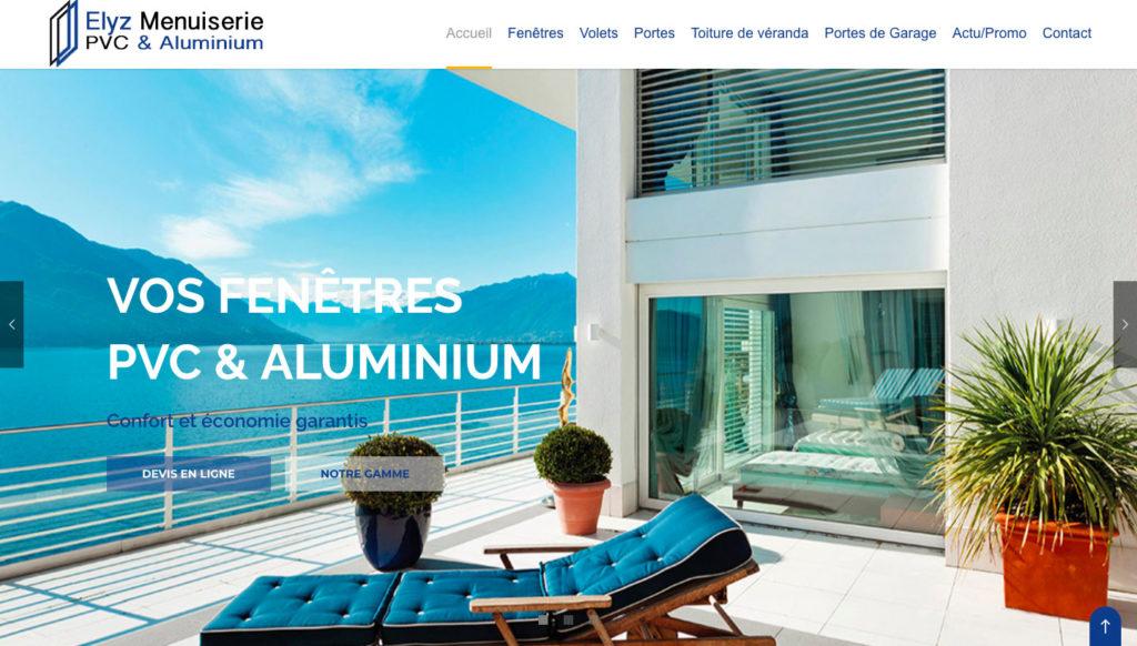 Diving in web - Création de site internet - elyzmenuiserie.com 2017 Marseille