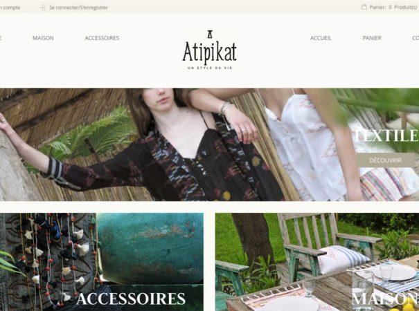 Diving in web - Création développement de site internet eCommerce Atipikat 2017
