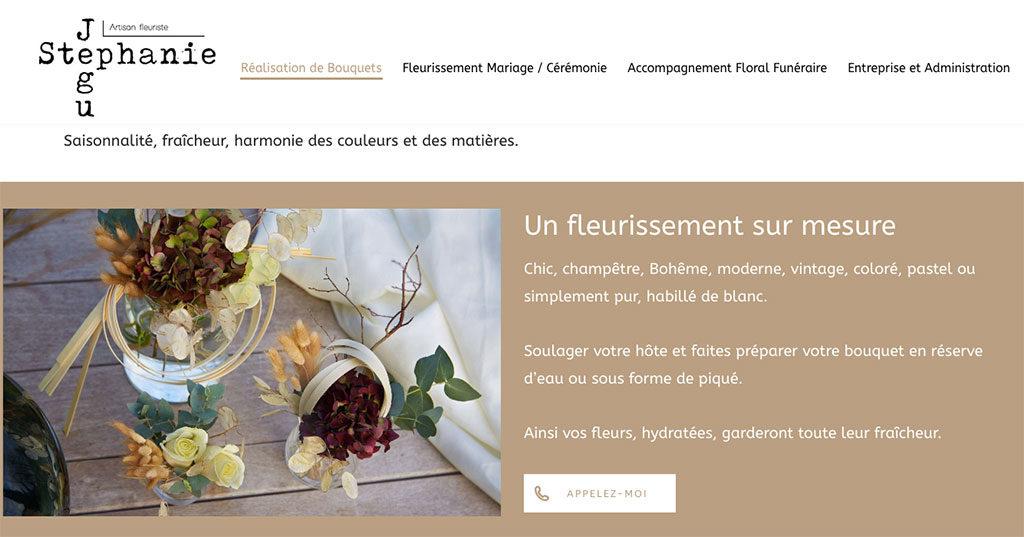 Diving in Web - Stéphanie Jegu Artisan fleuriste - création de site Wordpress février 2019