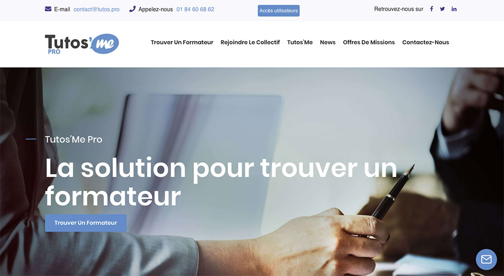 Diving in Web- Refonte de site - Tutos'me Collectif de formateurs
