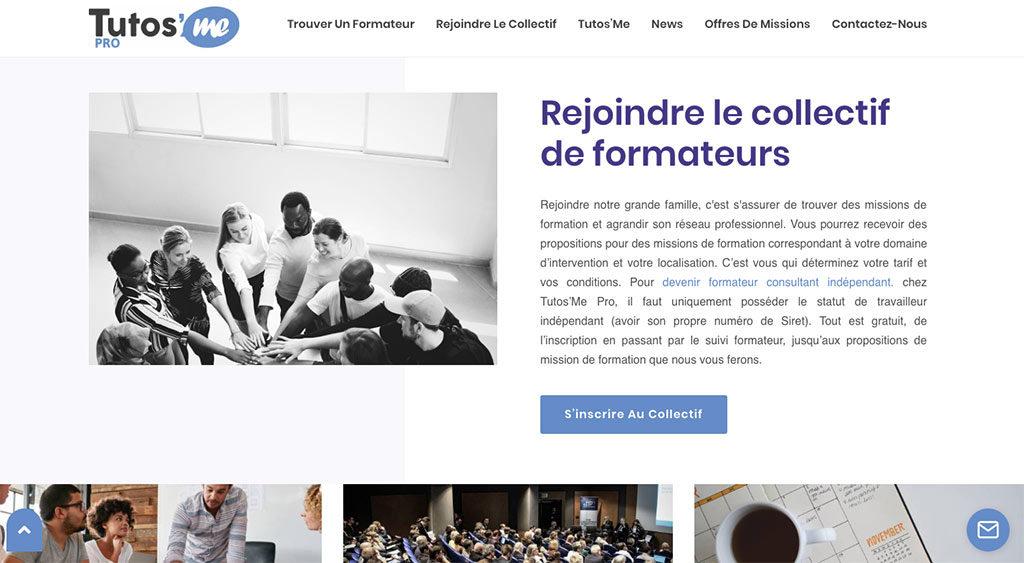 Diving in Web- Refonte de site - Tutos'me Collectif de formateurs