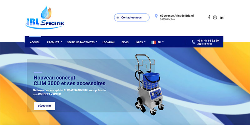 Diving in Web Refonte d'un nouveau site internet wordpress pour IBL Specifik Site woocommerce