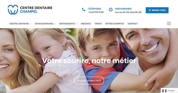 Diving in web - Refonte wordpress de centres dentaires suisses