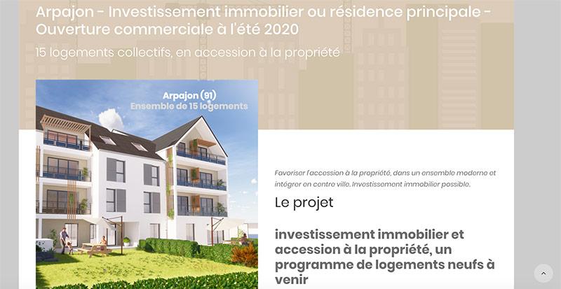 Diving in web - Création wordpress d'un promoteur immobilier parisien Birdy Promotion