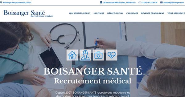 Diving in web - Création wordpress d'un site de recrutement Santé