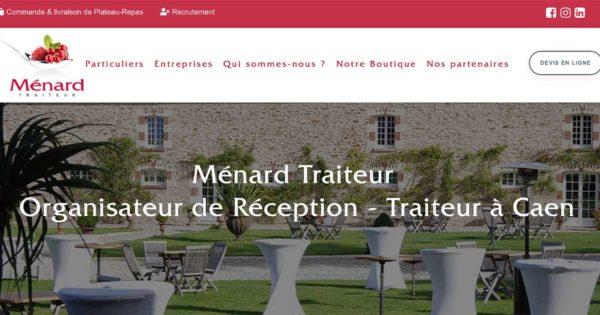 Diving in Web Refonte de site wordpress Ménard Traiteur Caen - Capture de la page d'accueil