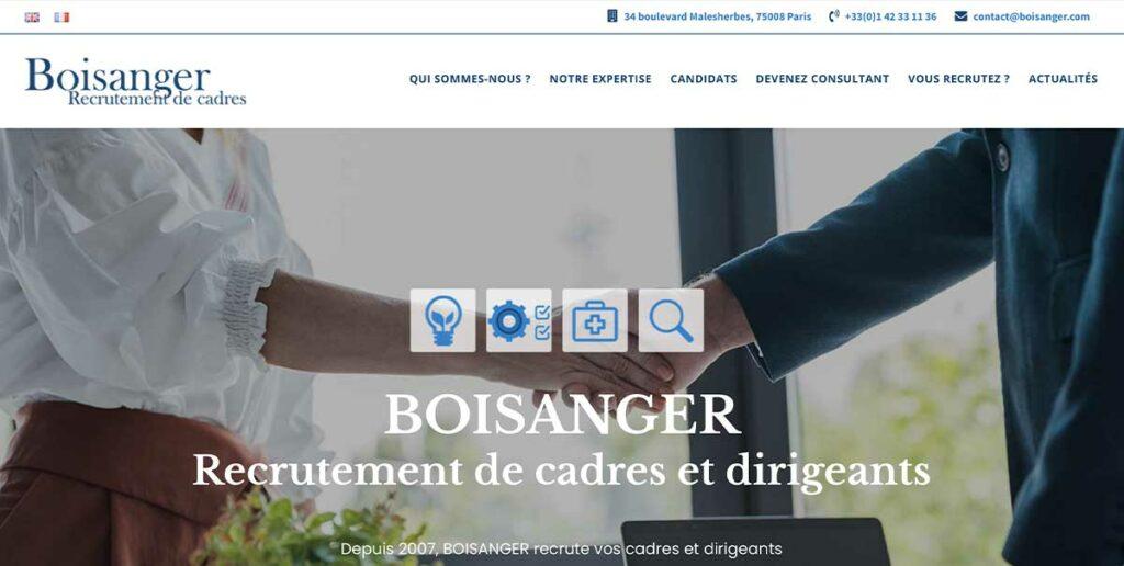 Diving in web - Refonte wordpress d'un site de recrutement de cadres et dirigeants
